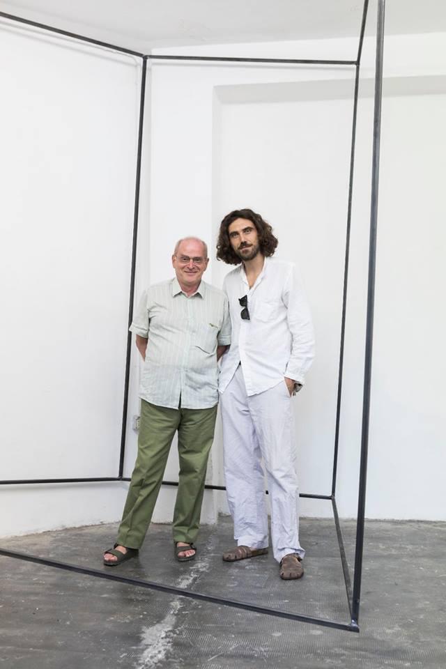 Filippo Manzini con Giorgio Verzotti, MARS Milano - Site Specific Installation, 2018